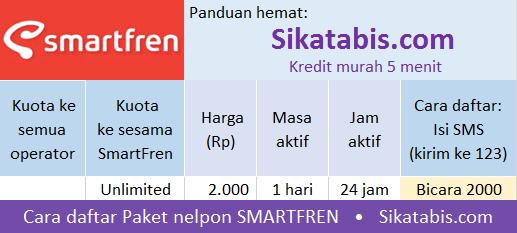 Cara daftar paket nelpon murah SmartFren 2017