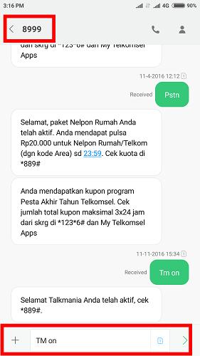 Cara daftar paket nelpon pakai SMS