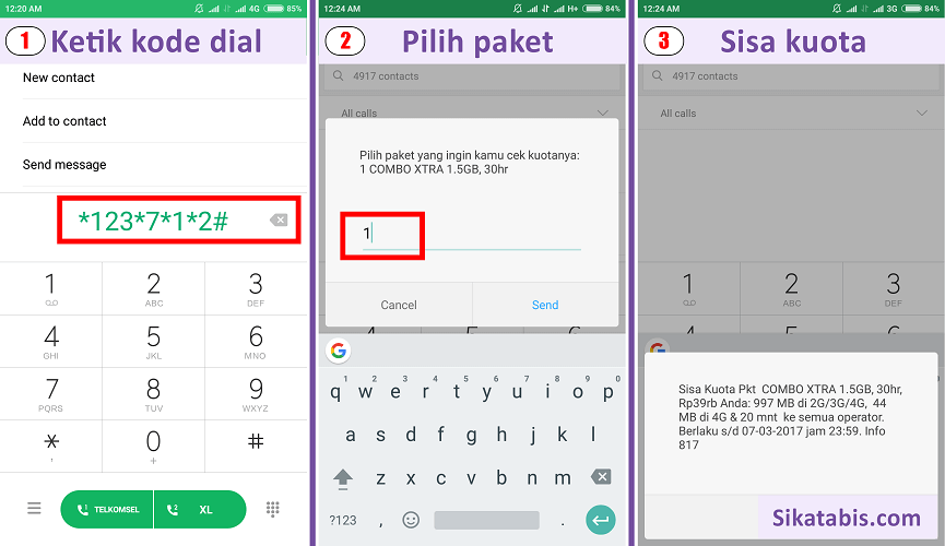 Cara Cek Kuota Smartfren Andromax 4g Gsm Internet Pulsa Sikatabis Com