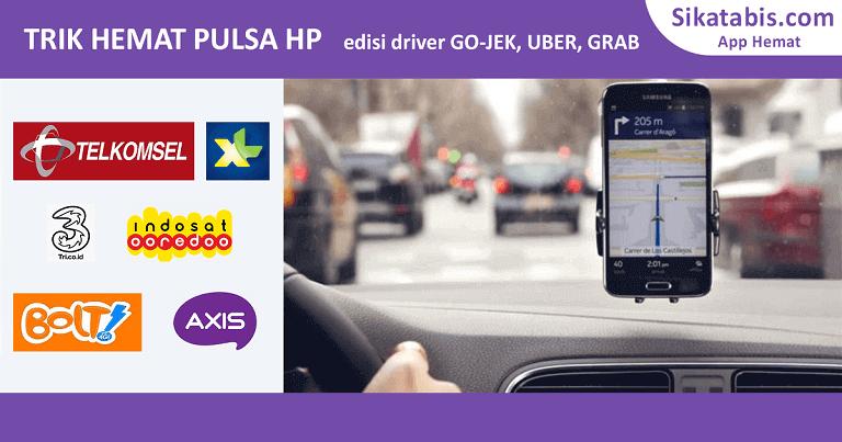 8 Cara hemat pulsa HP dari supir Gojek, Uber, Grab