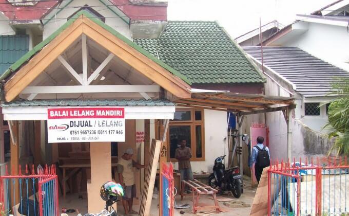 Foto rumah balai lelang Bank Mandiri