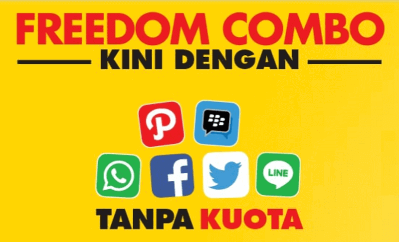 Paket Freedom Combo Indosat bonus kuota Apps dan Stream On