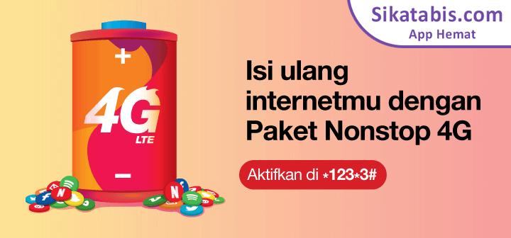 Paket internet Nonstop 4G Tri