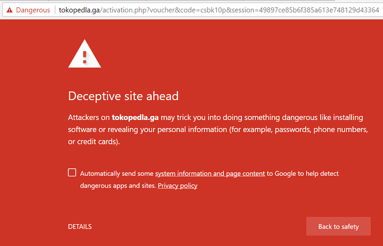 Google blok TokopedLA
