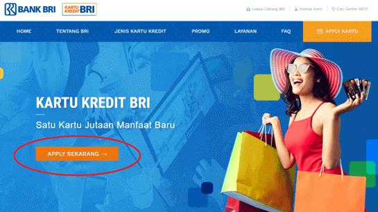 Tekan tombol Apply Sekarang untuk mengajukan kartu kredit BRI