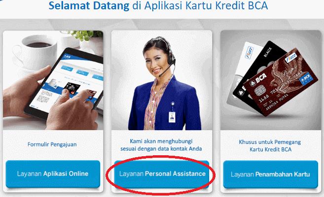 Pengajuan Kartu kredit BCA melalui Personal assistant BCA