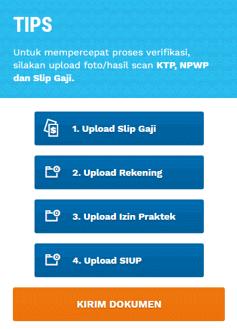 Panduan cara meng-upload dokumen syarat membuat kartu kredit BRI