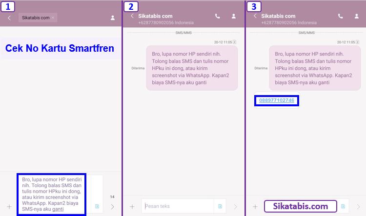 Cara cek nomor HP Smartfren Sendiri dengan kirim SMS