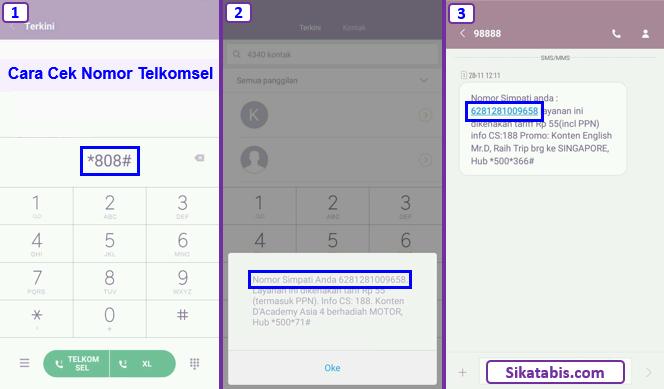 Cara paling cepat untuk cek nomor Telkomsel sendiri pakai kode dial 808
