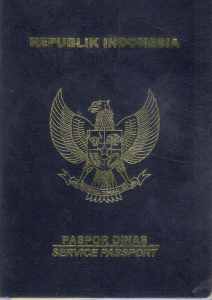 Paspor Dinas Sampul Biru