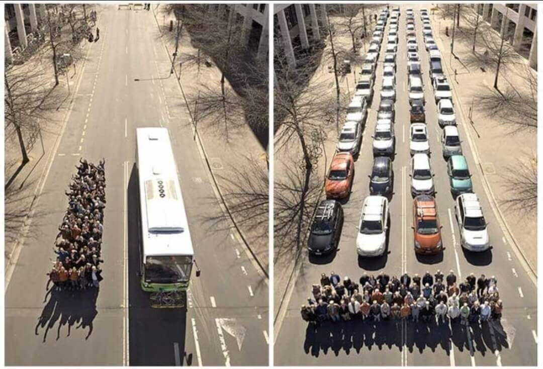 Kendaraan Umum vs Pribadi