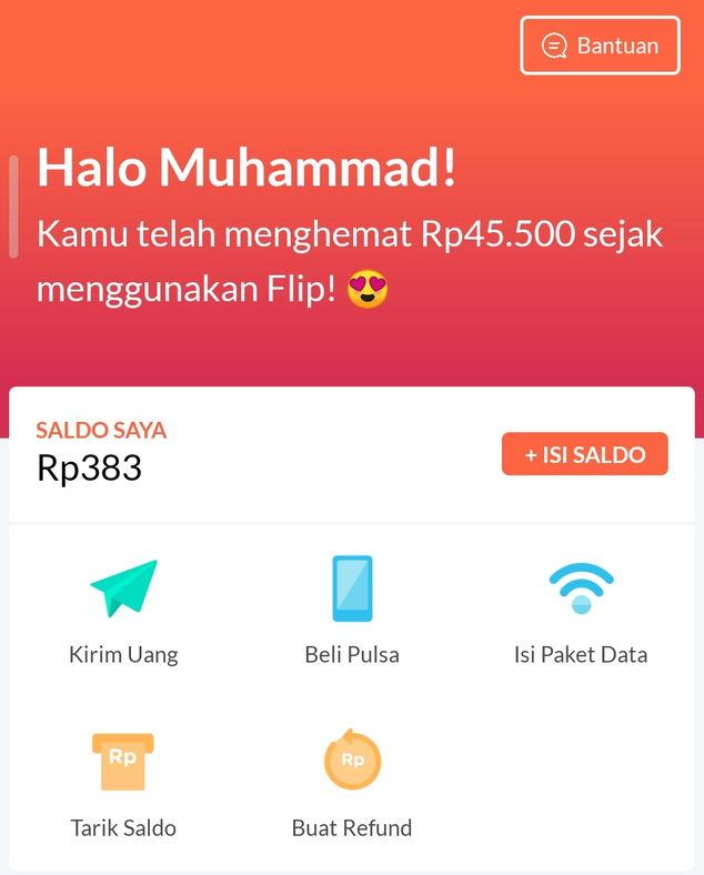 Flip aplikasi transfer uang gratis untuk transfer tanpa biaya admin
