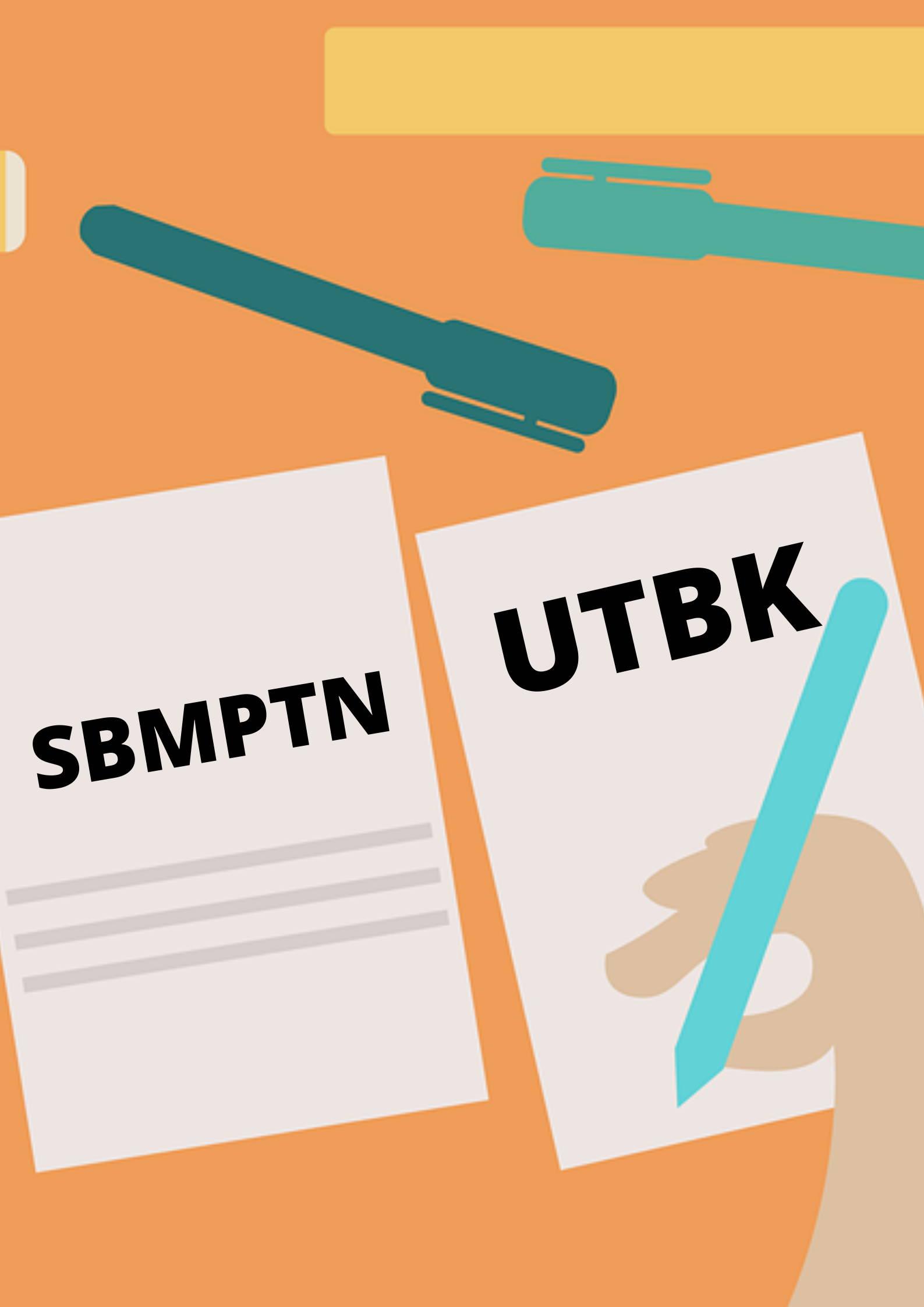 Gambar ilustrasi tes UTBK dan SBMPTN
