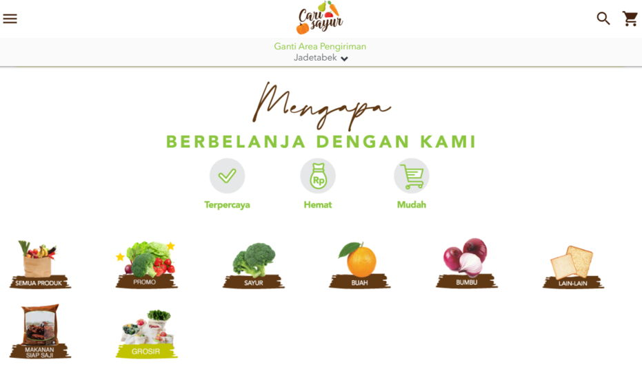 App belanja sayur online Carisayur