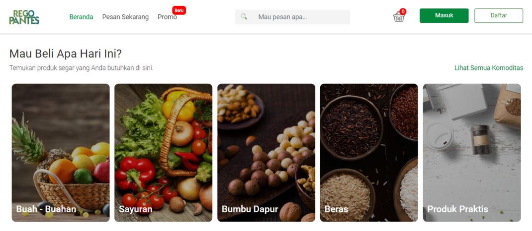 App belanja sayur online Regopantes