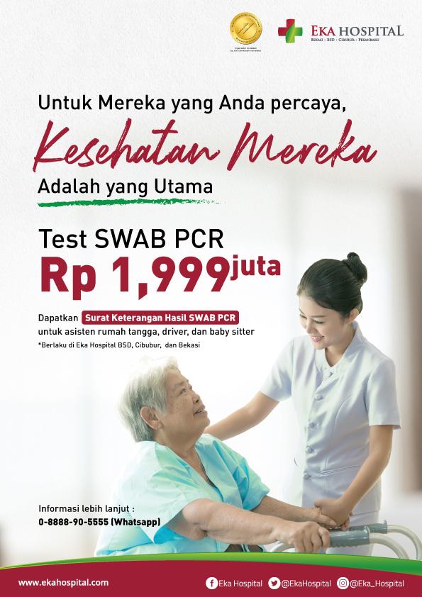 harga swab test Eka Hospital