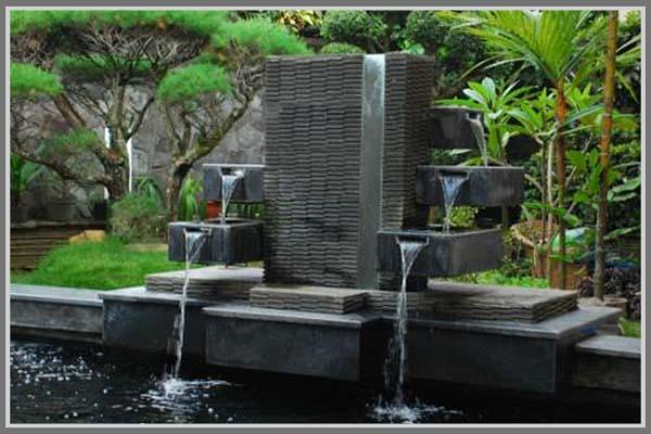 Air mancur taman rumah