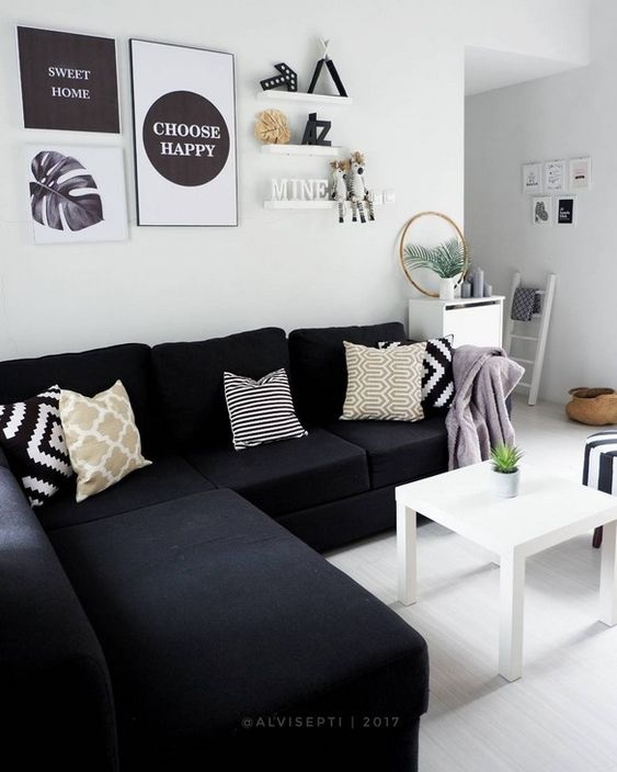 konsep minimalis hitam putih