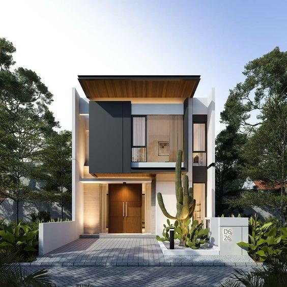 desain rumah dengan taman