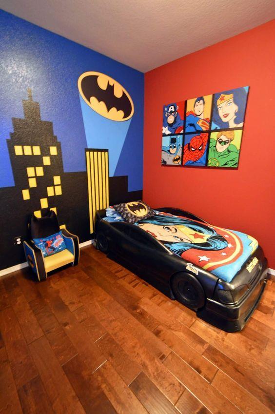 kamar anak minimalis tema superhero
