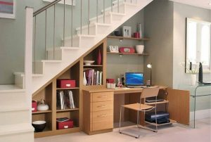 contoh desain untuk manfaatkan ruang bawah tangga