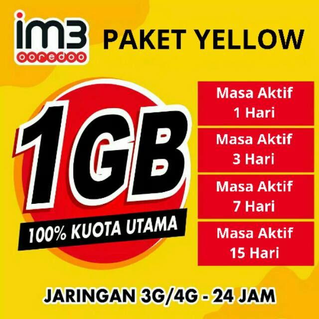 Kuota Internet Yellow Indosat