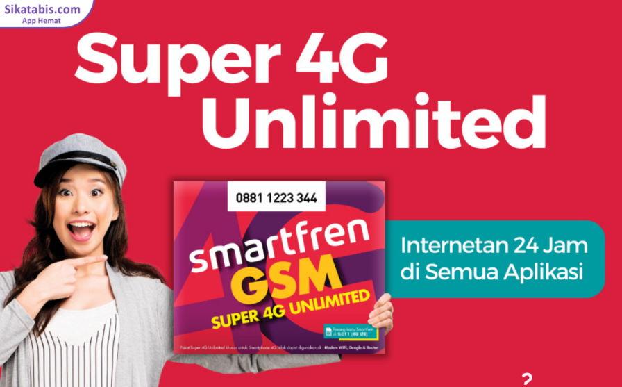 Paket Smartfren Super 4G Unlimited